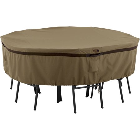 Classic Accessories Hickory Table and Chair Patio Furniture Storage Cover, Round, Small, Tan ()