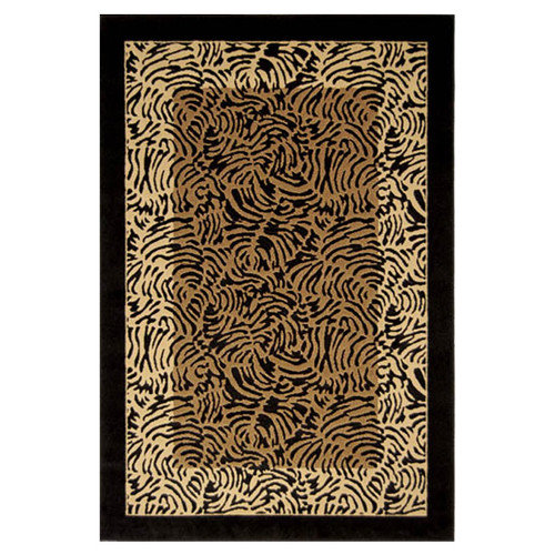 Home Dynamix Catalina Black Animal Print Area Rug