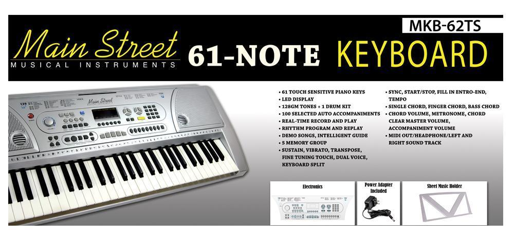 MKB-62TS Main Street 61 Note Keyboard