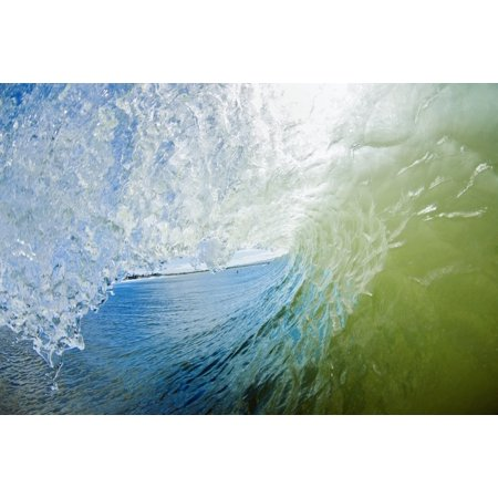 Hawaii Maui Maalaea Wave breaking at legendary surf spot Freight Trains Stretched Canvas - MakenaStockMedia  Design Pics (19 x (Best Surf Spots In Hawaii)