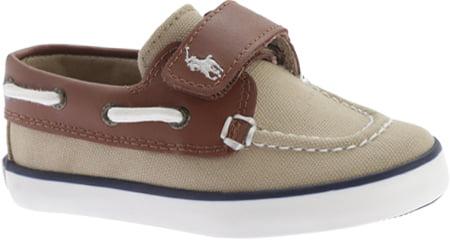 Polo Ralph Lauren Boys Sander-CL EZ Fashion Khaki//Tan Boat Shoes