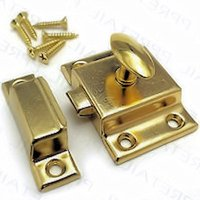 Brass Plated Cabinet Door Latch with Catch - C21-C43001BP
