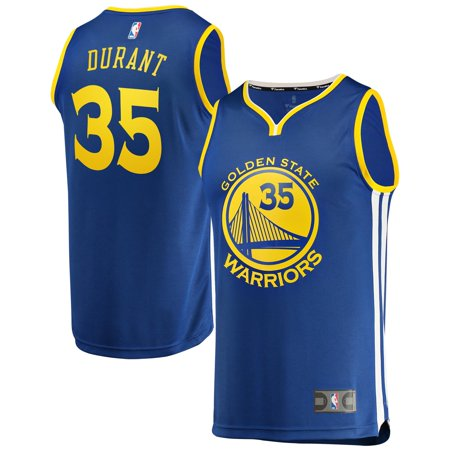 Kevin Durant Golden State Warriors Fanatics Branded Youth Fast Break Replica Jersey Royal - Icon Edition Brewers Youth Replica Jersey