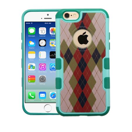 Insten Argyle Hard Rubber Cover Case For Apple iPhone 6/6s - Brown/Green - image 8 de 8
