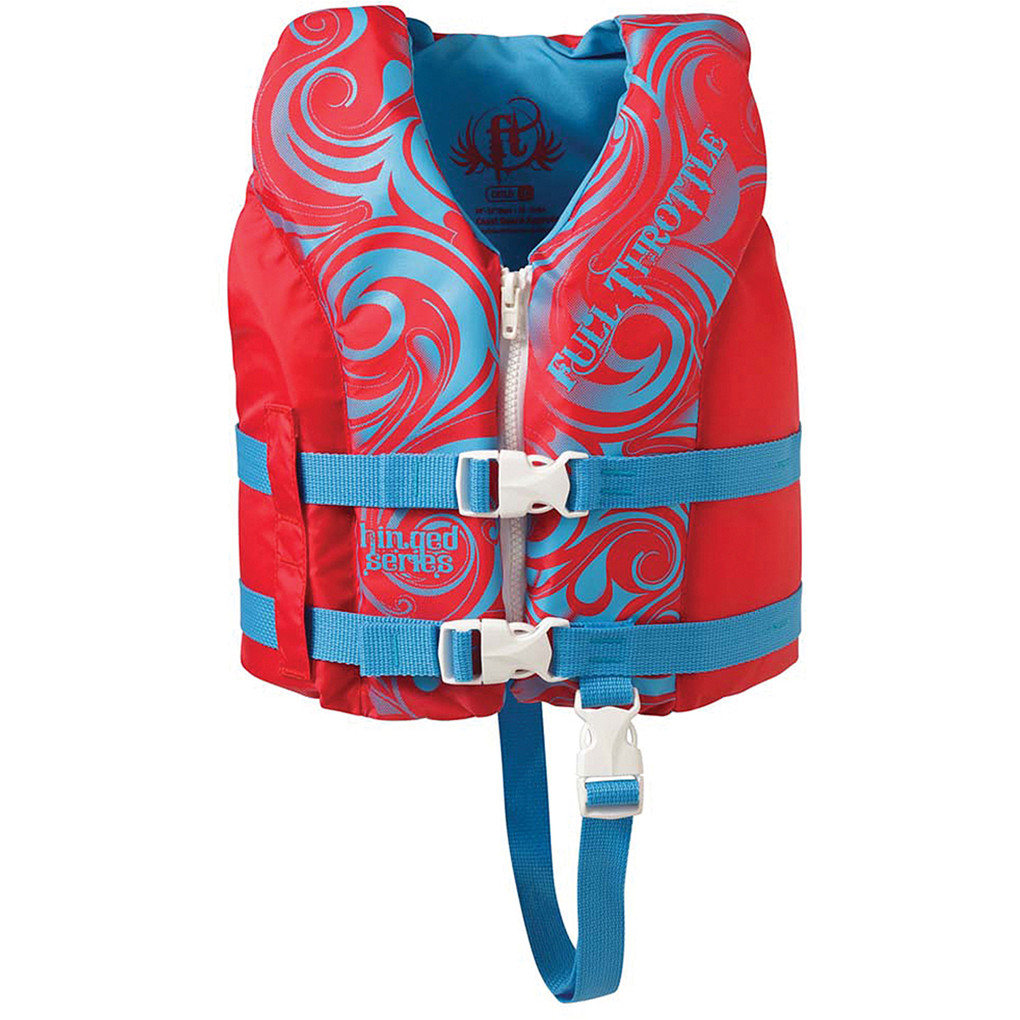 Full Throttle Child/Youth Hinged Water Sports Vest, Child, Berry/Blue