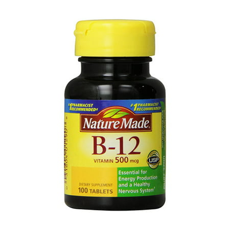 Vitamin B-12 500 Mcg Supplement Tablets, By Nature Made ...