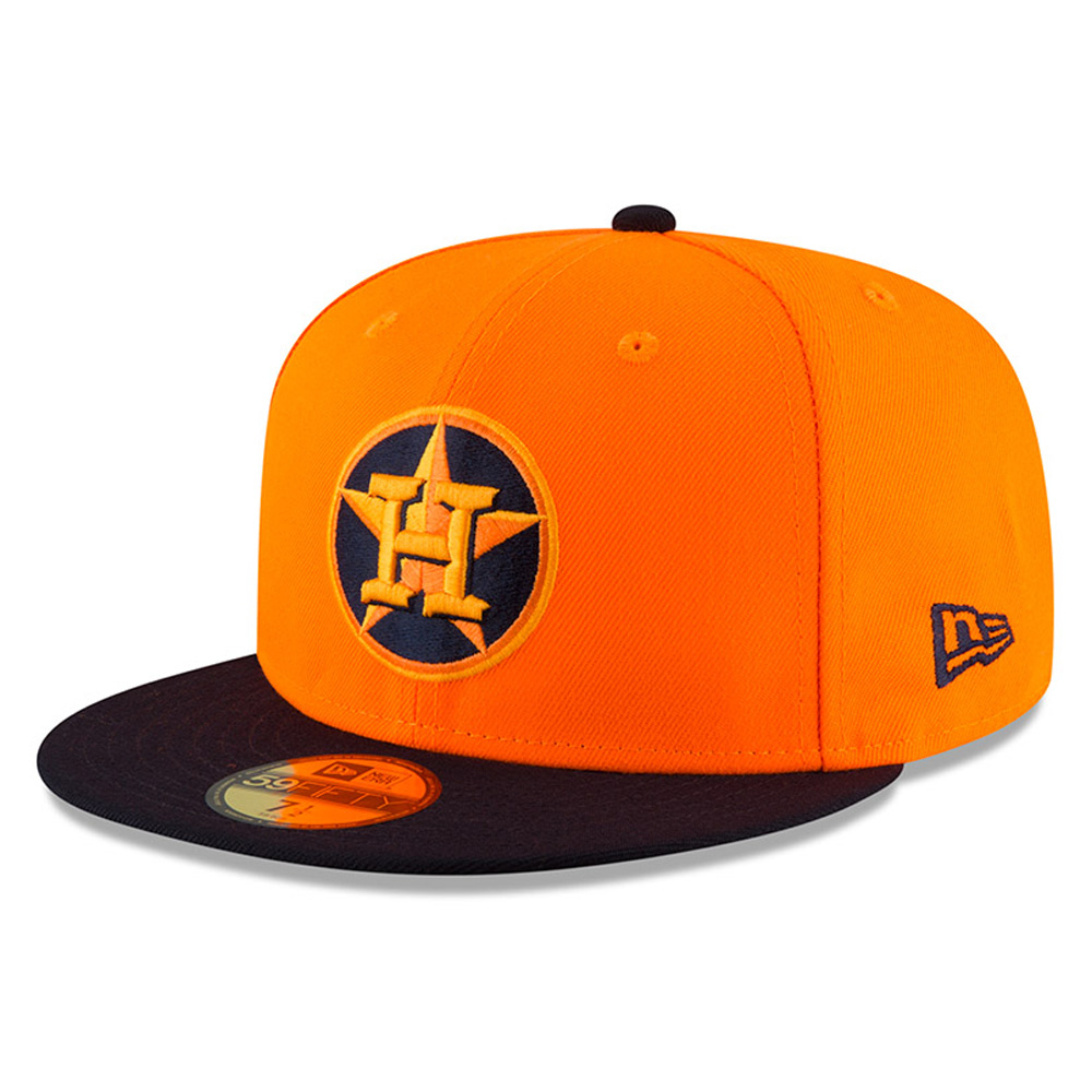 Houston Astros New Era 2018 Players' Weekend On-Field 59FIFTY Fitted Hat - Orange/Navy