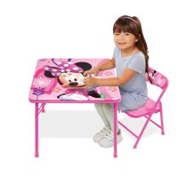 Disney Minnie Mouse Happy Helpers Junior Erasable Activity Table Playset and 1 Chair