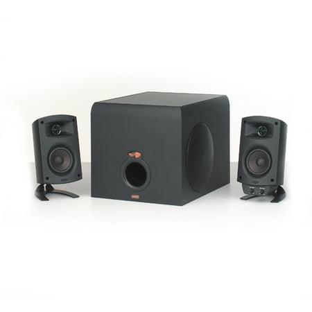 Klipsch ProMedia 2.1 Speaker System, 160 W RMS, Black