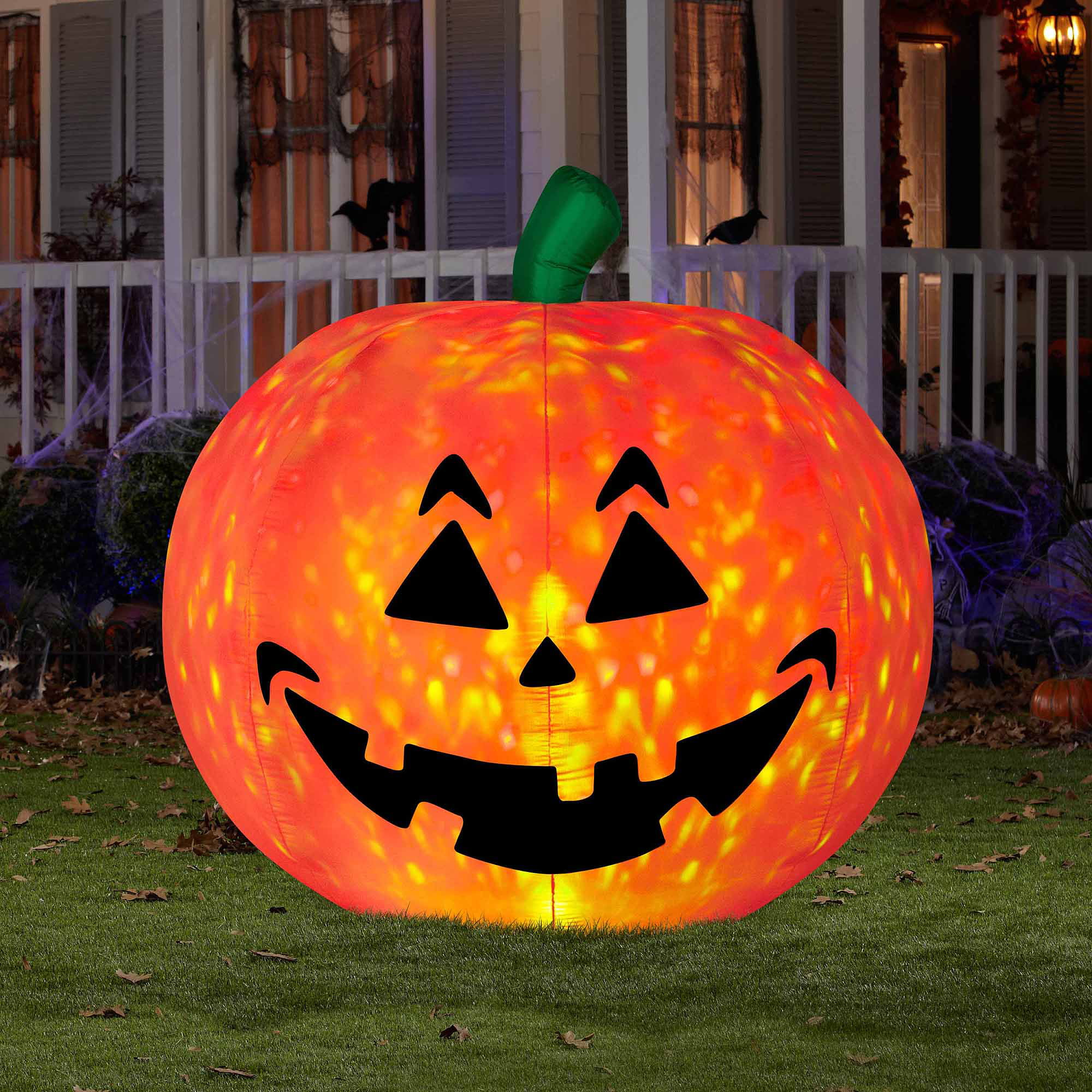 5 ft airblown inflatables projection fire and ice pumpkin large walmartcom - Halloween Inflatables Clearance
