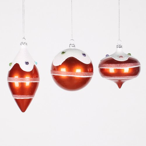 The Holiday Aisle 3 Piece Candy Jewel Ornament Set