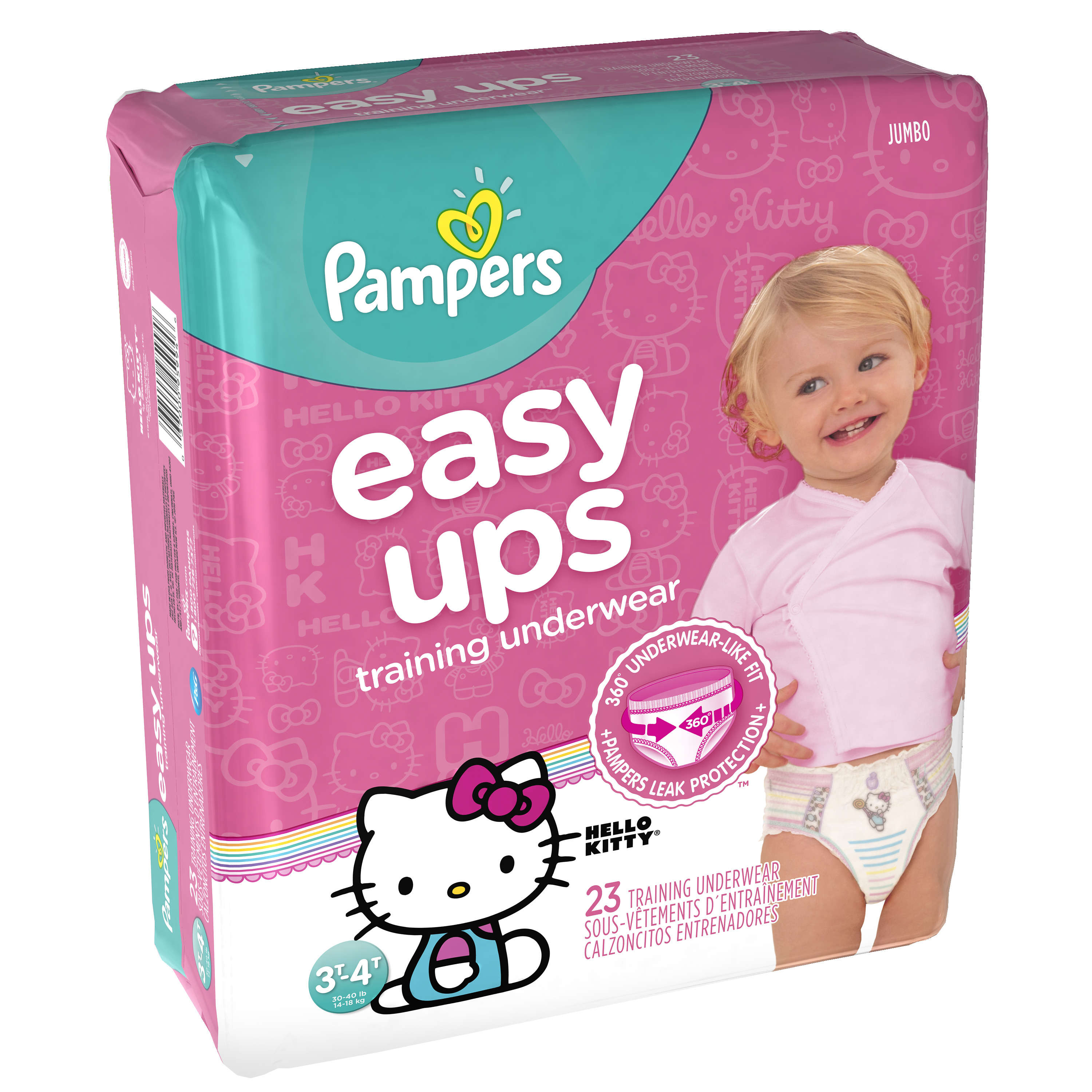 Pampers Easy Ups Girls Training Pants (Choose Pant Size and Count)
