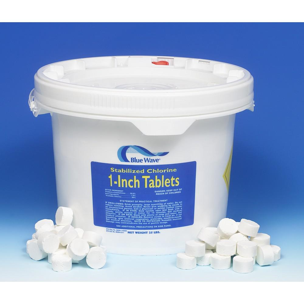 "BlueWave Products INET CHEMICALS-SANITIZERS NC114 1"" Chlorinated Tablets-10 Lbs."