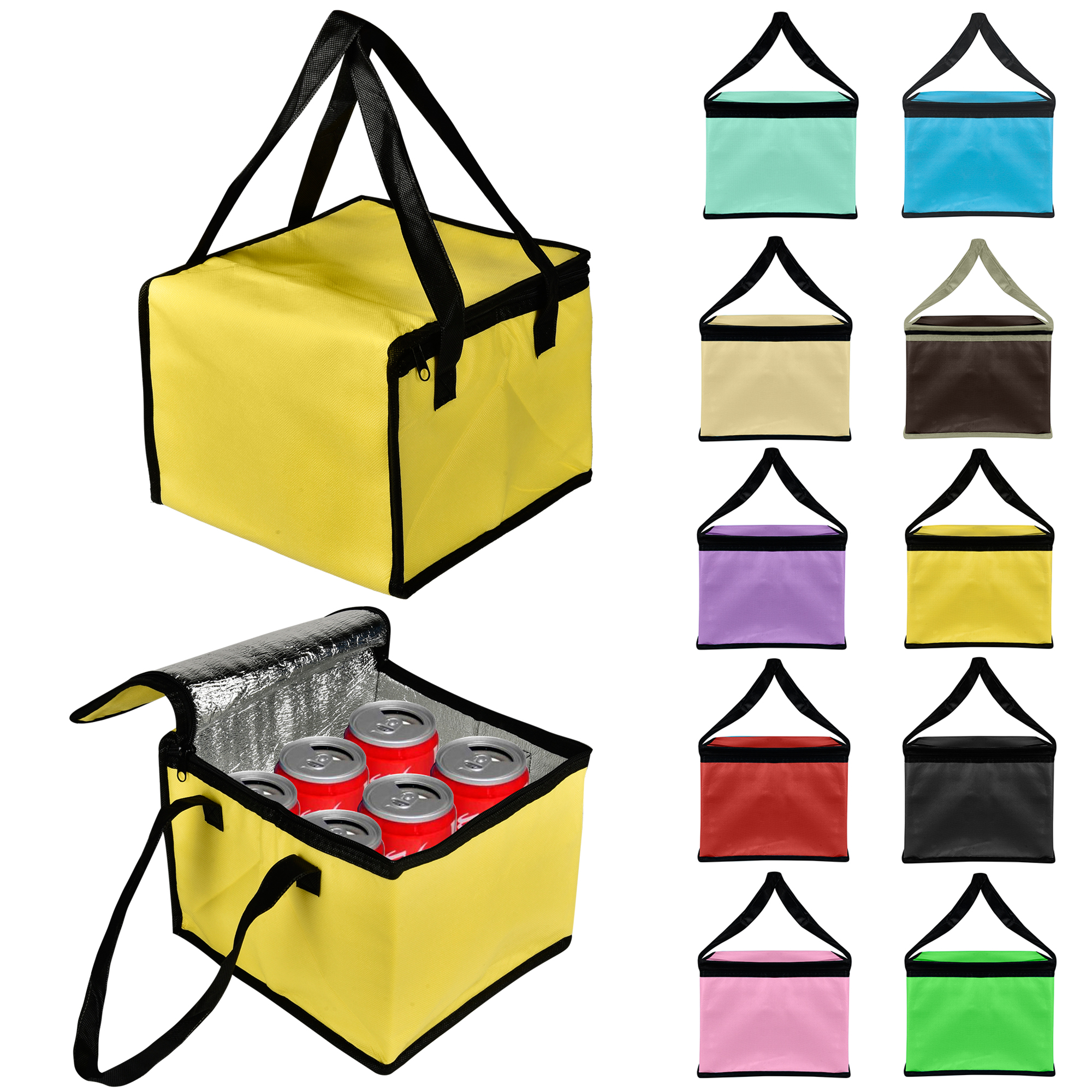 CUH Portable Cool Bag Cooler Food Insulated Can Drink Lunch Picnic Hiking 21L /12.5L