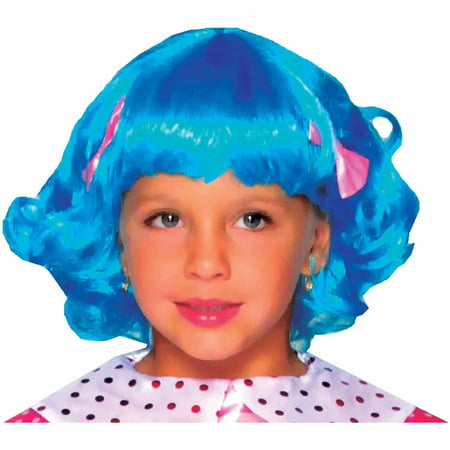 Blue Lalaloopsy Rosy Bumps Wig Child Halloween Costume - Daily Bumps Halloween Special