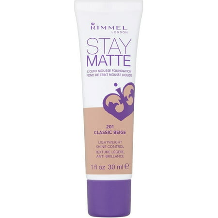 Matte Mousse Foundation (Rimmel London Stay Matte Liquid Mousse Foundation, Classic Beige [201] 1 oz (Pack of)