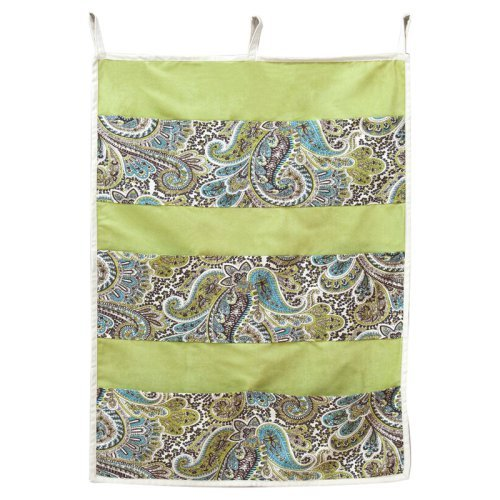 Brite Ideas Paisley Chocolate Pocket Wall Hanging Storage