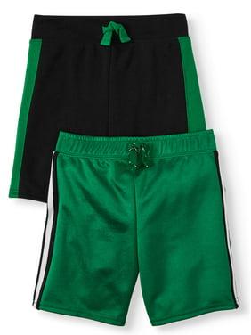 Garanimals Toddler Boys Side Stripe Athletic Shorts, 2pc Pack