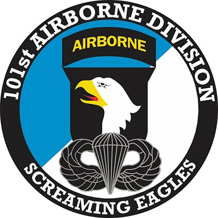 101st Airborne Division with Jump Wings 8 Inch Decal