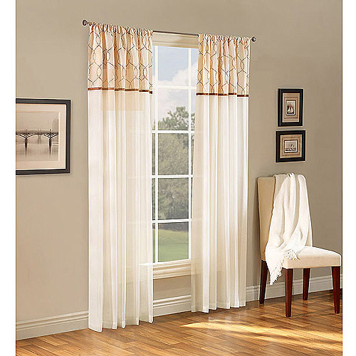 living room curtains at walmart maison reversible sheer curtain panel 18238