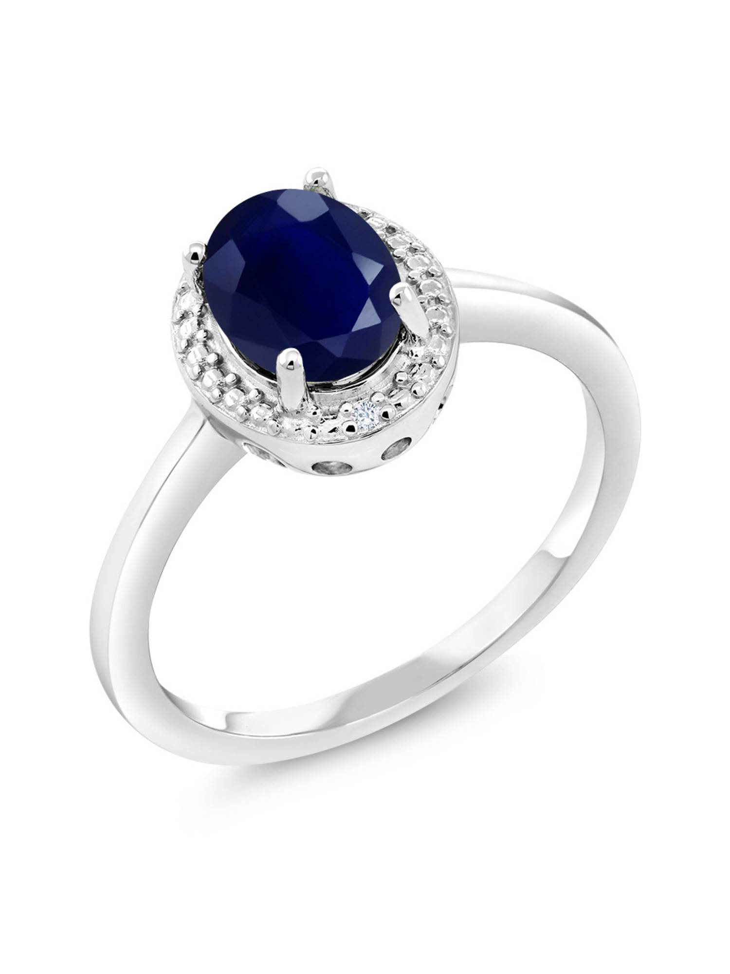 FINE 925 STERLING SILVER LADIES DESIGNER RING W// 3 CTS DIAMOND//SIZE 5,6,7,8,9