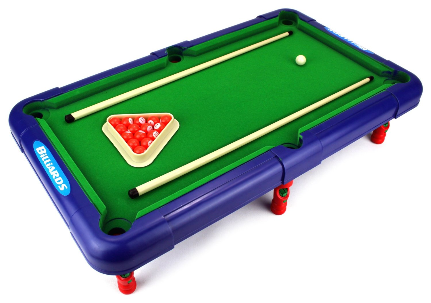 Superior Billiards Novelty Toy Billiard Pool Table Game W/ Table, Full Set  Of Billiard Balls, 2 Cues, Triangle   Walmart.com