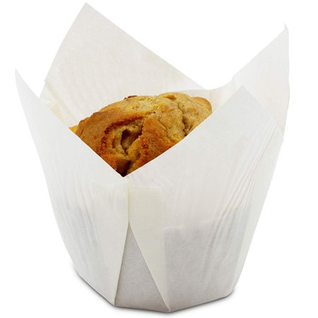 Large Cupcake Liners (Juvale Tulip Muffin Wrappers (100 Pack) Large Paper Liners,)