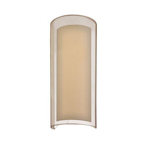 Sonneman 6017.51F Wall Sconces , Indoor Lighting, Bronze Organza Shade
