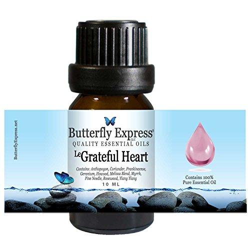 Le Grateful Heart Essential Oil Blend 10ml - 100% Pure - by Butterfly Express
