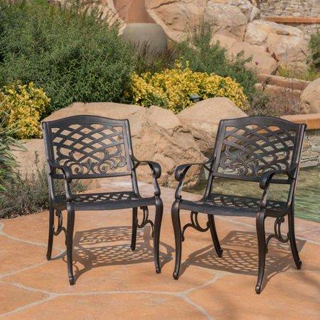 Fleur De Lis Living Brainerd Outdoor Patio Dining Chair (Set of 2) ()