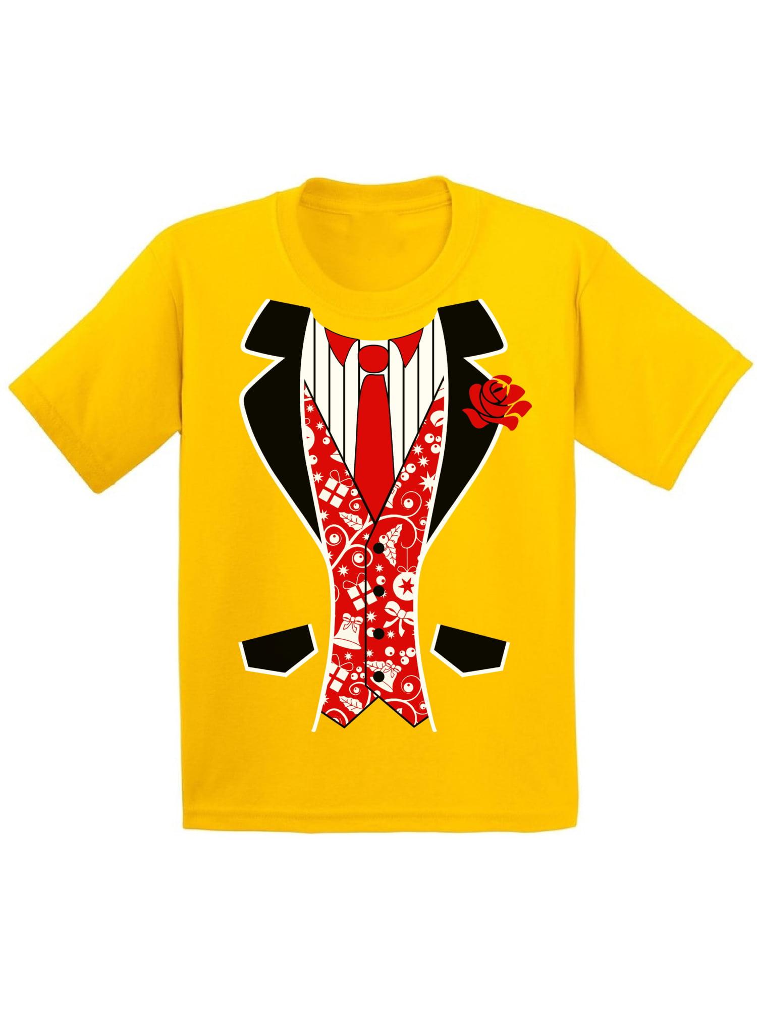 TUXEDO Xmas COSTUME Youth Tshirt Merry Christmas Gift Holidays Kids Shirt