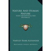 Nature and Human Nature : Essays Metaphysical and Historical