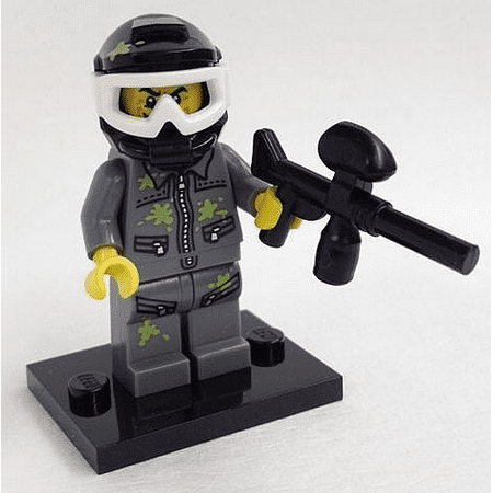 - LEGO Collectible Series 10 Paintball Player Minifigure - Complete Set