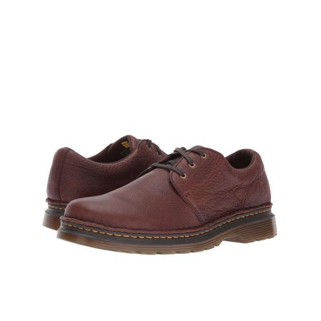 Dr. Martens Hazeldon Mens Shoes Textured Lace Up Oxford 22935201 Dark (Brown Lace Shoes)