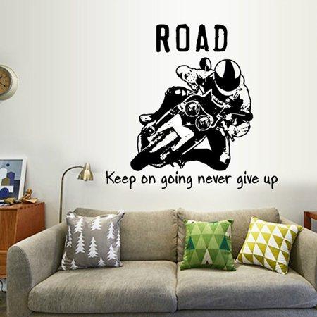 50cm*70cmDirt Bike Stunts Motorcycle WALL STICKER Decal Art Stencil Silhouette](Stencil Wall Art)