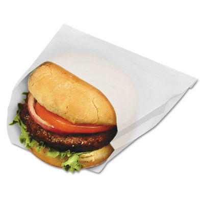 Pb18/8 Grease-resistant Sandwich Bags, 6w X 3/4 X 6 1/2h, White, 1000/pack BG...