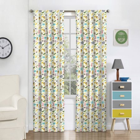 Eclipse Kids Jungle Party Blackout Window Curtain - Wall Curtains For Parties