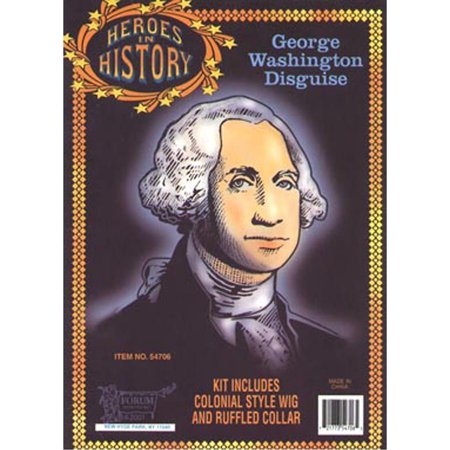 Halloween Adult Washington Heroes In History Wig - History Halloween