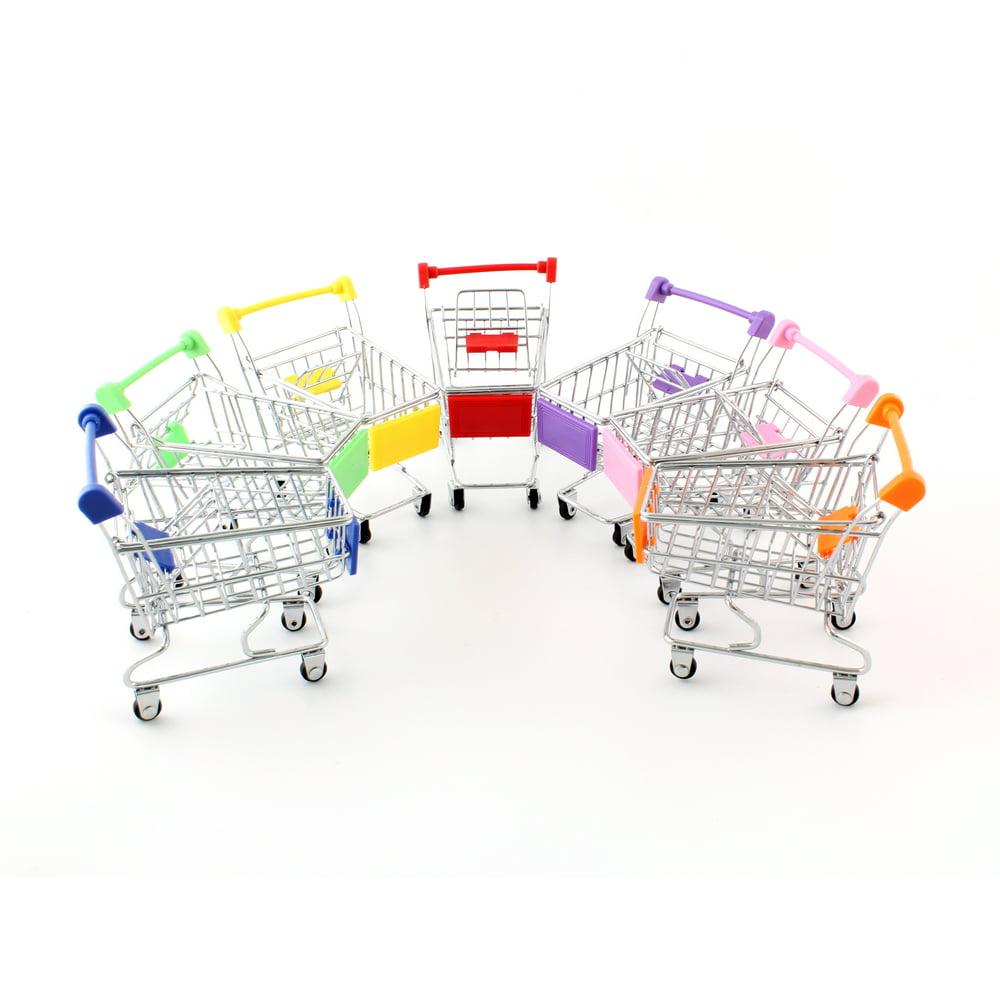 Mini Shopping Cart Toy, Supermarket Hand Cart Shopping Utility Cart Mode Storage Toy