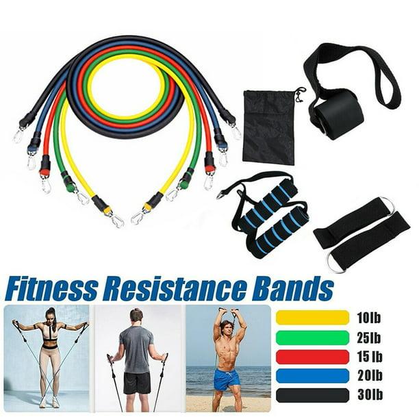 11Pcs Resistance Yoga Bands Set Workout Fitness Exercise Crossfit Training Tubes
