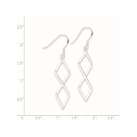 925 Sterling Silver Fancy (10x57mm) Earrings - image 2 of 2