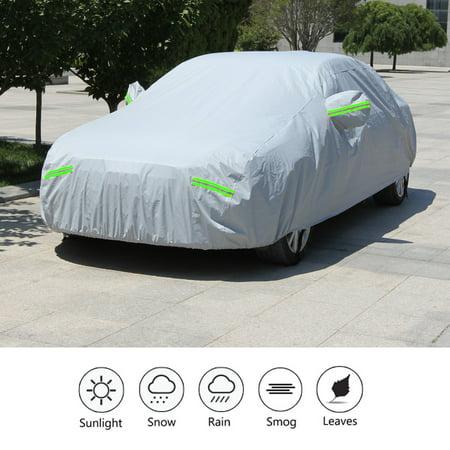 Full Cover Rail Cover (Hilitand Full Car Cover Outdoor Waterproof Sun UV Dust Rain Snow Resistant Protection, Full Car Cover, UV Resistant Car Cover )