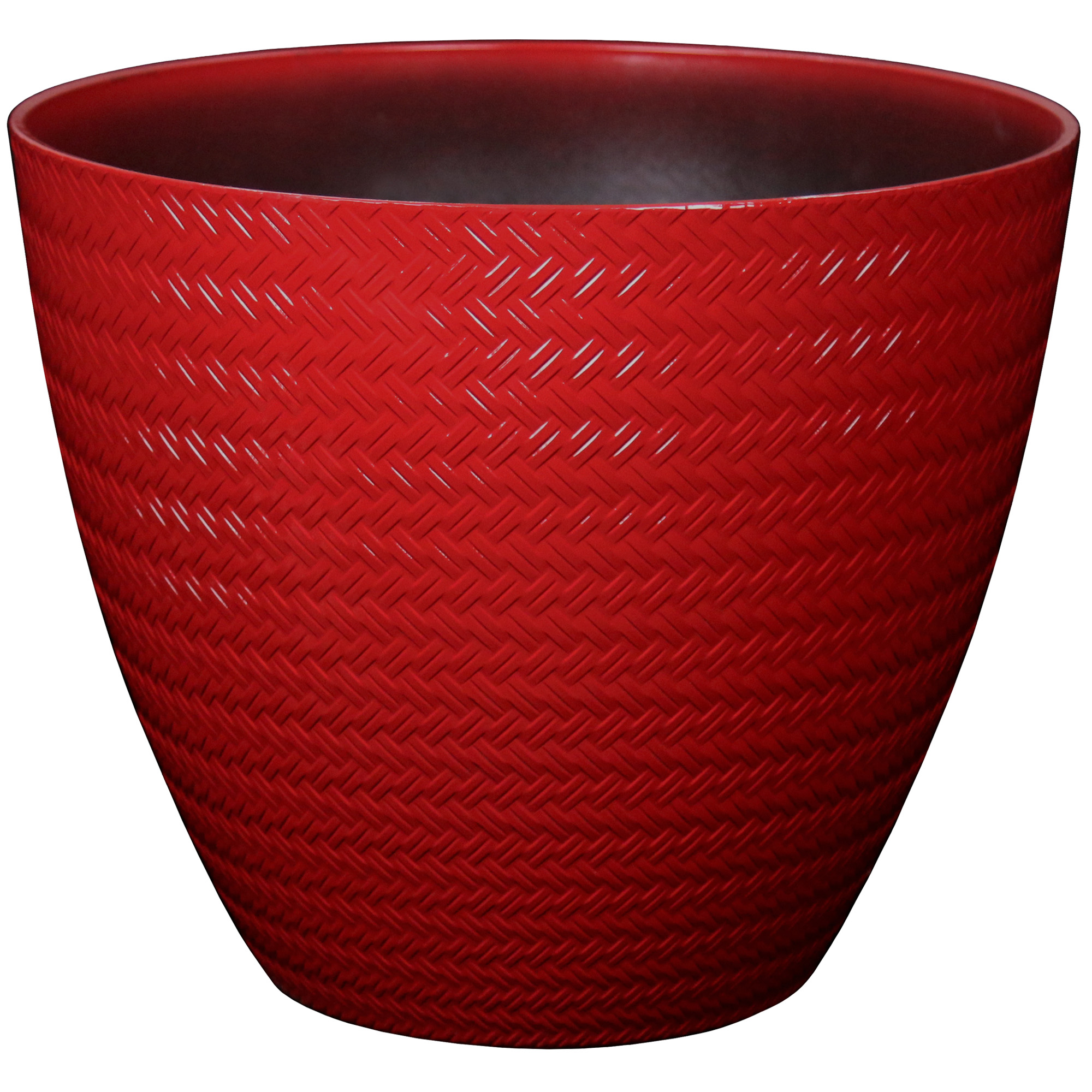 16IN WEAVE PLANTER RED
