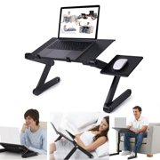 Novashion Adjustable 360 Degree Laptop Table Laptop Stand for Bed Portable Lap Desk Foldable Laptop Workstation Notebook Riser with Mouse Pad Side Ergonomic Computer Tray Reading Holder TV Bed Tray