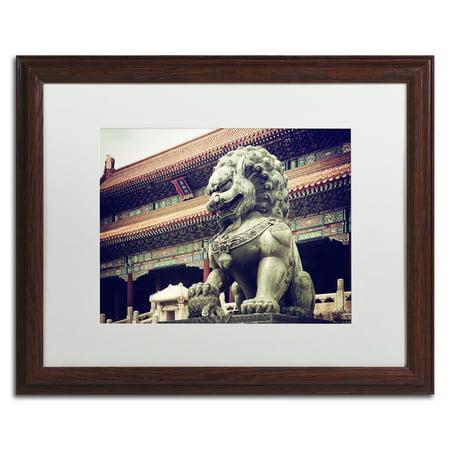 Trademark Fine Art 'Bronze Lion' Matted Framed Art by Philippe Hugonnard ()