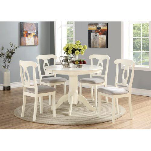 Angel Line 5 - Piece Lindsey Dining Set, White - Walmart.com