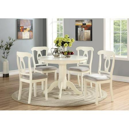Angel Line 5-Piece Lindsey Dining Set, White - Walmart.com
