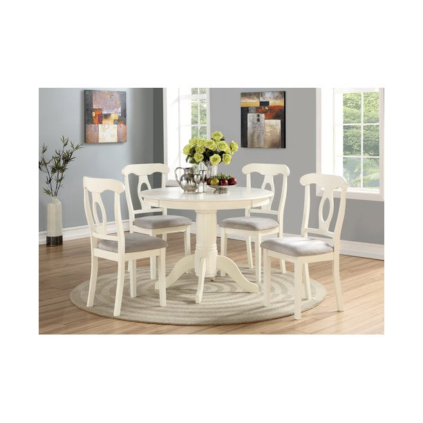 Angel Line 5-Piece Lindsey Dining Set, White