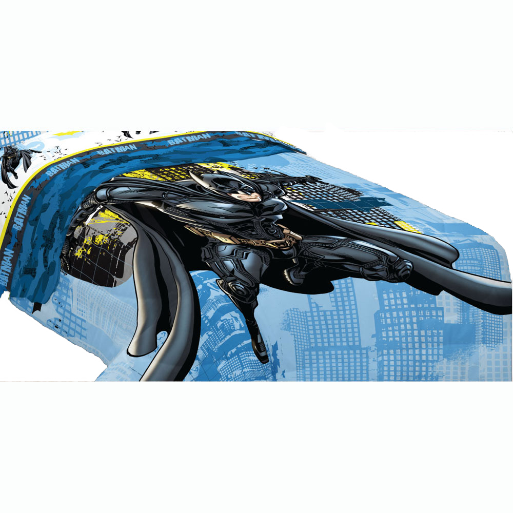 Franco Manufacturing Company Inc 16429815 Dc Comics Batman Twin Comforter Superhero Searchlight Bed