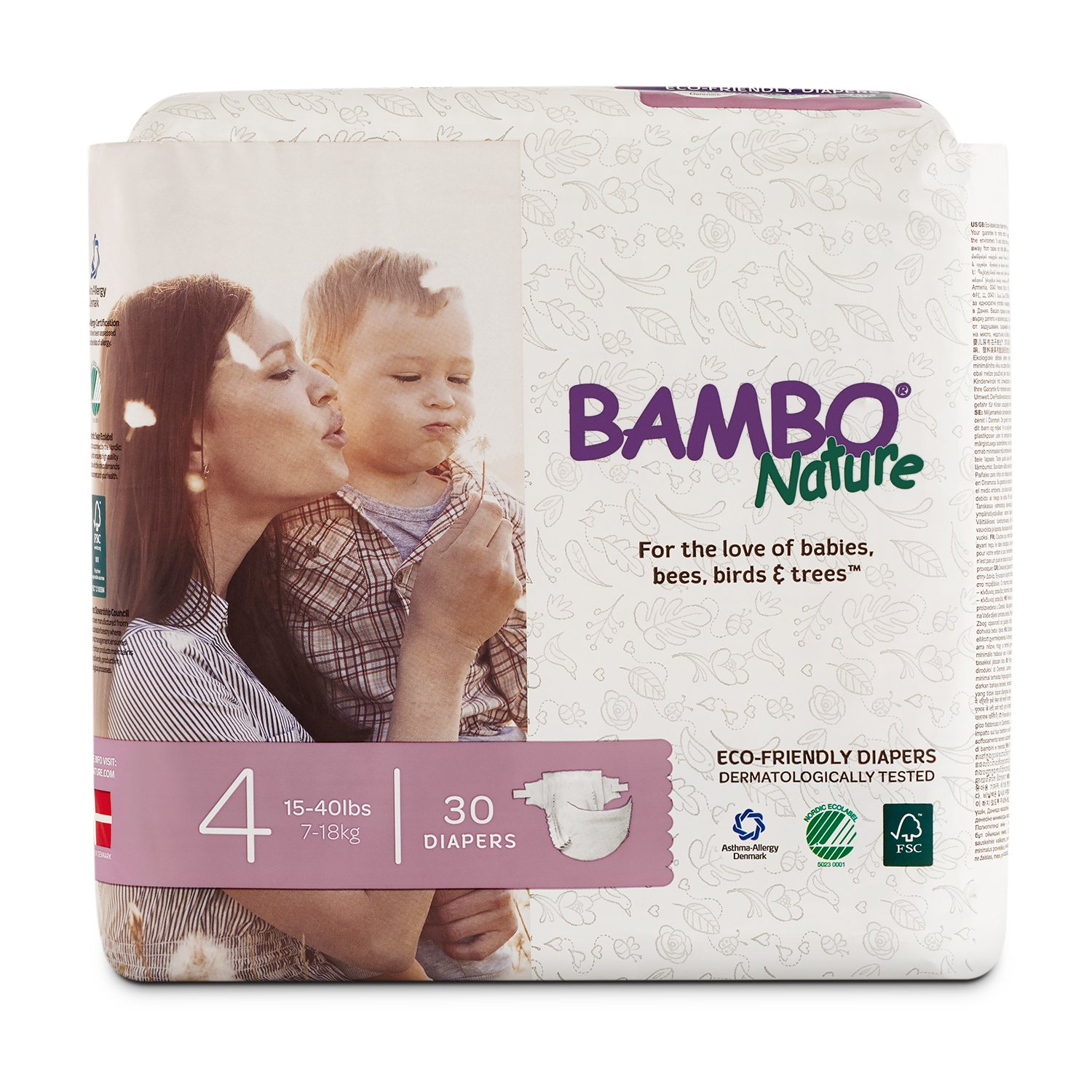 Bambo Nature Premium Baby Diapers (Choose Size and Count)